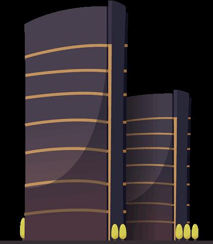 Torres de edificio negras