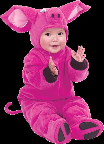 Bebé con traje animalito