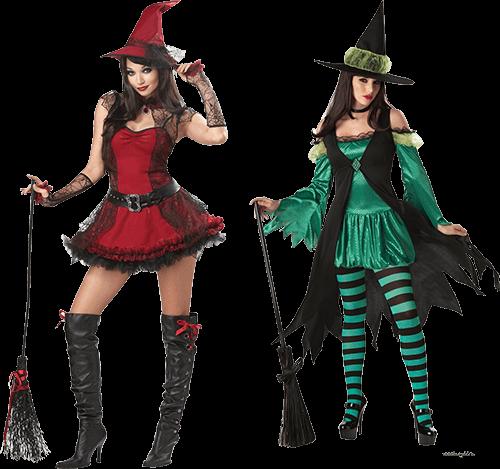 Brujas de verde y rojo