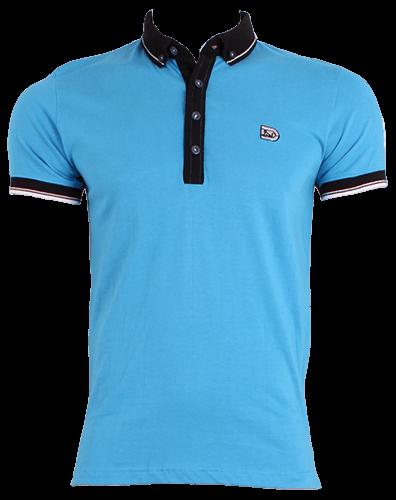 Camisa de hombre de color azul