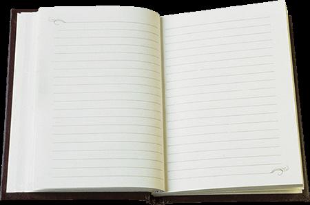 Cuaderno hojas rayadas