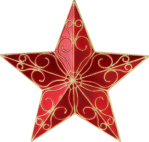 Estrella roja mandala