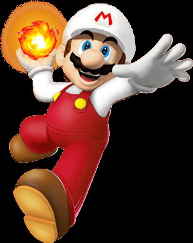 Mario corre con bola de fuego