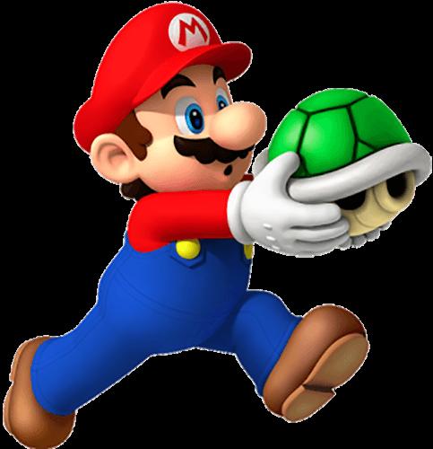 Mario corre con tortuga