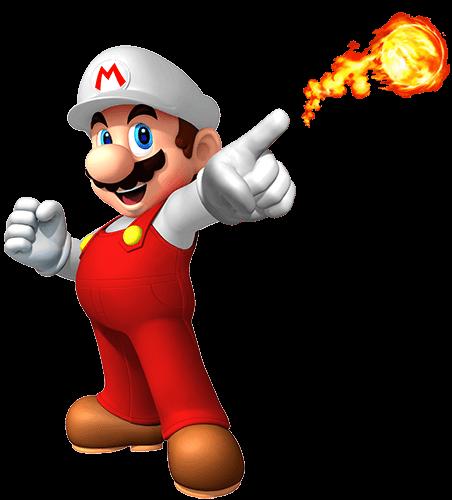 Mario dispara fuego