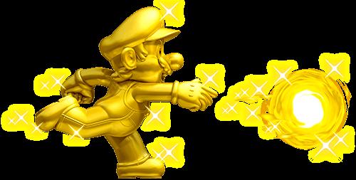 Mario lanza bola de fuego