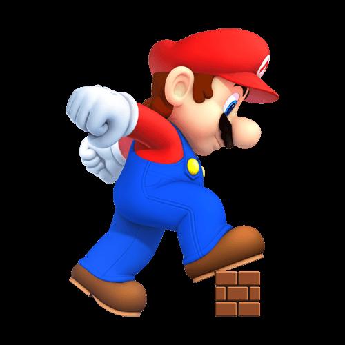 Mario sobre bloque