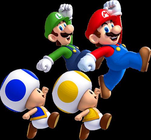 Mario y Luigi corren
