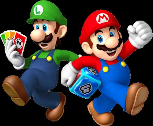 Mario y Luigi juegan