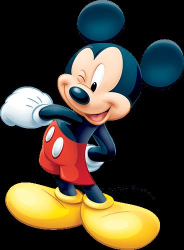 Mickey Mouse agita manos