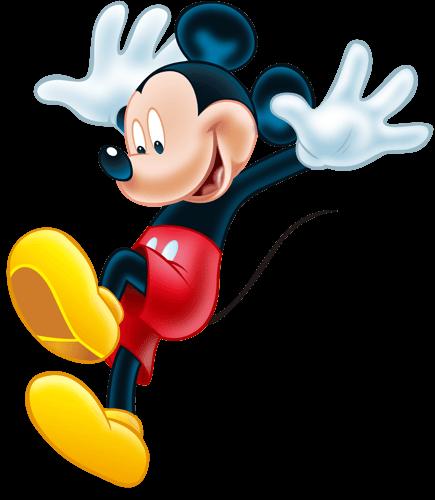 Mickey Mouse cayendo