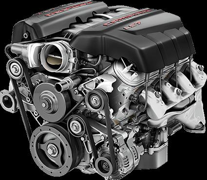 Motor de vehículos gris