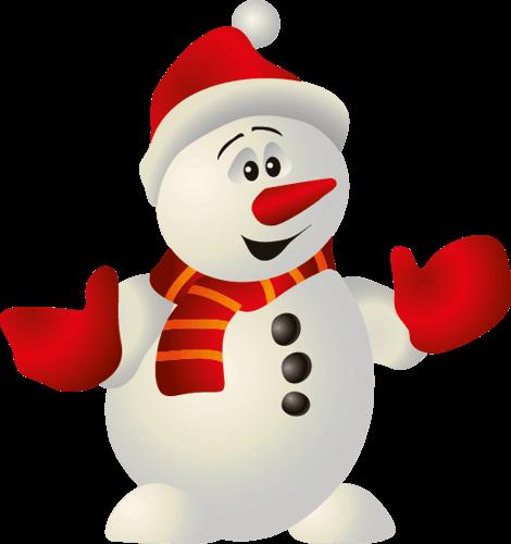 Muñeco de nieves sorprendido