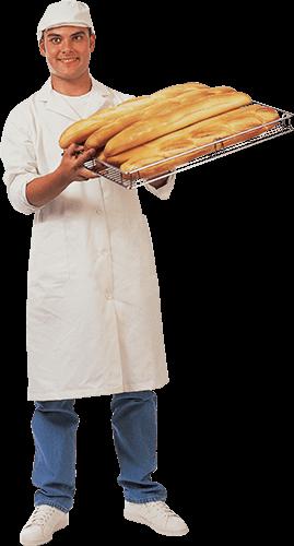 Panadero con panes