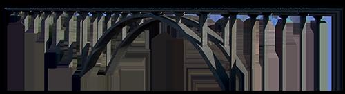 Puente metalico sin barandas