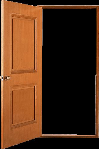 Puerta beige abierta