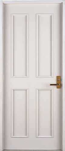 Puerta blanca cerrada