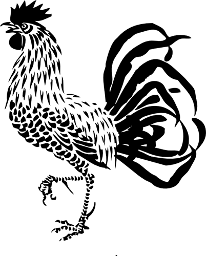Silueta de Gallo