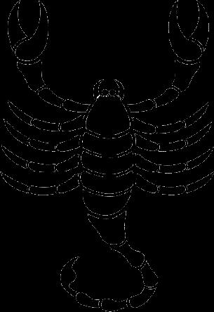 Silueta signo escorpion