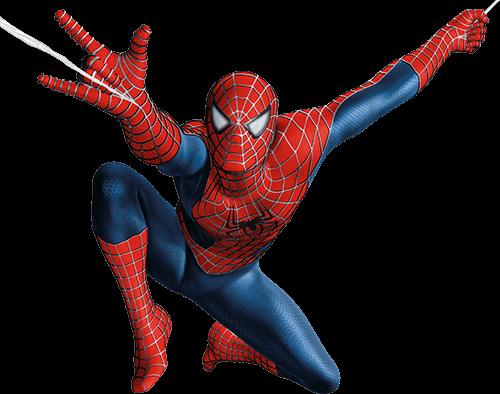 Spider man lanza con mano derecha