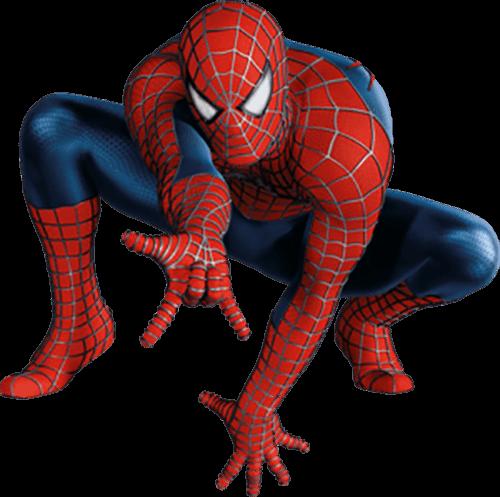 Spider man mano en piso y de frente