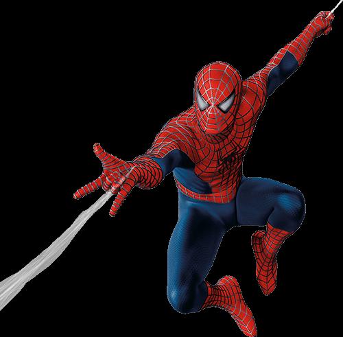 Spider man manos abiertas