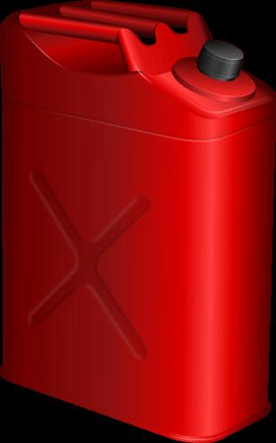 Tanque rojo para combustible