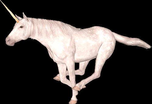 Unicornio corriendo