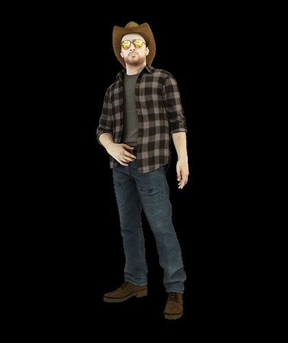Vaquero con sombrero