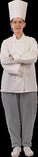 Cocinera con los brazos cruzados