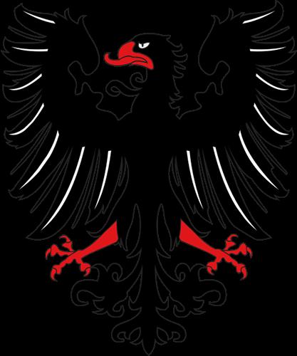 Águila Eagle imperial roja y negra