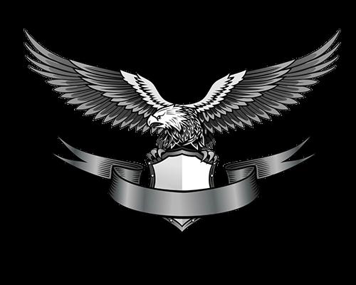 Águila con escudo y cinta