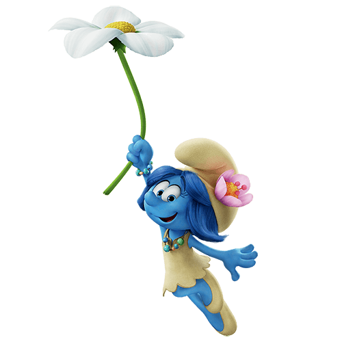 Pitufo con flor