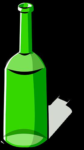 Botella de vino vacía