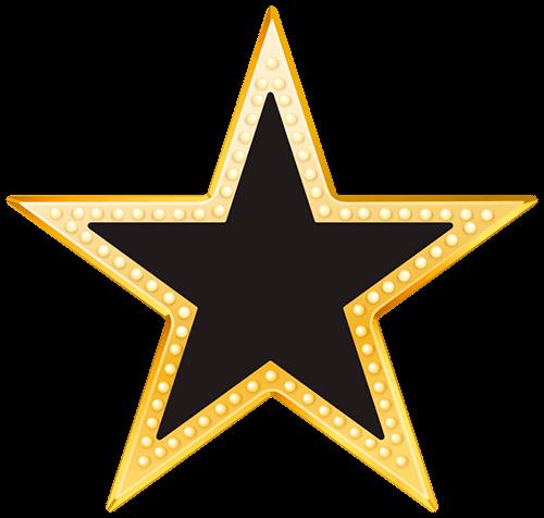 Estrella con bordes luces doradas