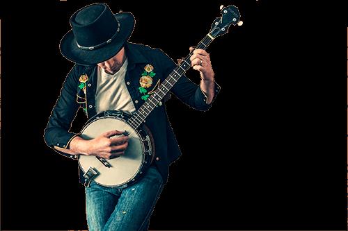 Musico con guitarra y sombrero