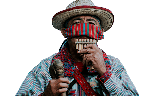 Musico nativo de Guatemala