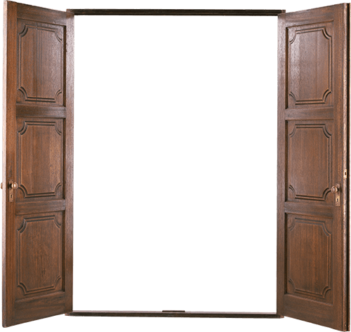 Puertas dobles abiertas